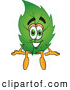 Stock Cartoon of a Eco Friendly Leaf Mascot Cartoon Character Sitting by Toons4Biz