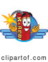 Stock Cartoon of a Explosive Dynamite Mascot Cartoon Character Logo by Toons4Biz