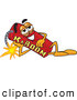 Stock Cartoon of a Explosive Dynamite Mascot Cartoon Character Resting His Head on His Hand by Toons4Biz