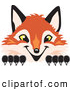 Stock Cartoon of a Friendly Fox Mascot Cartoon Character Peeking by Toons4Biz