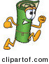 Stock Cartoon of a Green Carpet Mascot Cartoon Character Running to the Right by Toons4Biz