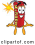 Stock Cartoon of a Happy Dynamite Mascot Cartoon Character Sitting by Toons4Biz