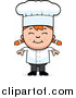 Stock Cartoon of a Happy Red Haired White Chef Girl Smiling by Cory Thoman