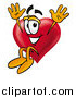 Stock Cartoon of a Love Heart Mascot Jumping by Toons4Biz