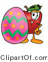 Stock Cartoon of a Red Apple and Easter Egg by Toons4Biz