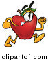 Stock Cartoon of a Red Apple Character Mascot Running Fast in a HurryRed Apple Character Mascot Running Fast in a Hurry by Toons4Biz