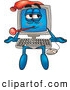 Stock Cartoon of a Sick Desktop Computer Cartoon Character by Toons4Biz