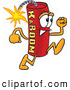 Stock Cartoon of a Smiling Dynamite Mascot Cartoon Character Running by Toons4Biz