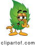 Stock Cartoon of a Sneaky Leaf Mascot Cartoon Character Whispering and Gossiping by Toons4Biz