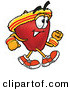 Stock Cartoon of a Sporty Red Apple Character Mascot Speed Walking or Jogging on WhiteSporty Red Apple Character Mascot Speed Walking or Jogging on White by Toons4Biz