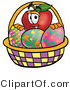 Stock Cartoon of an Easter Red Apple by Toons4Biz