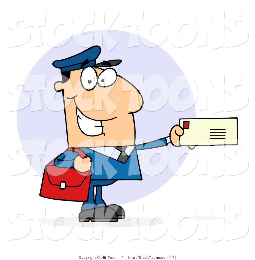 Stock Cartoon Of A Caucasian Postal Worker By Hit Toon 179