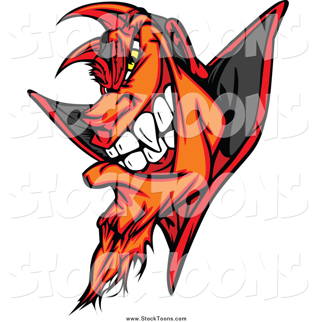 stock cartoon of a grinning devil by chromaco 35466