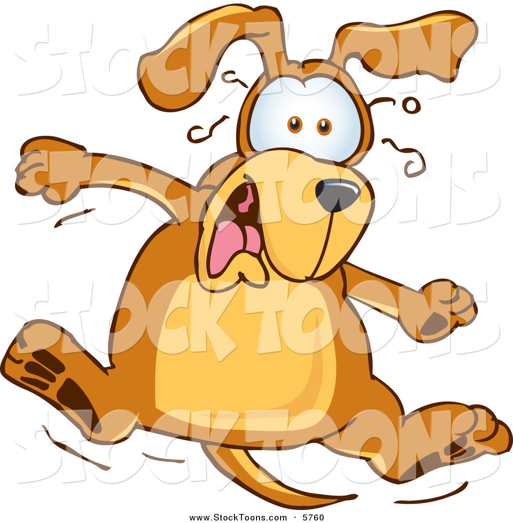Stock Cartoon Of A Scared Brown Dog Mascot Cartoon Character